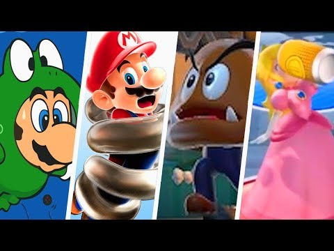 Evolution of Weird Power-Ups in Super Mario Games (1986 - 2018)