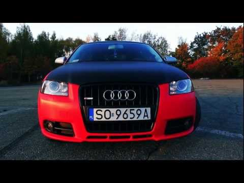FCD AUDI A3 S-LINE Project RED Carbon- Car Wraping