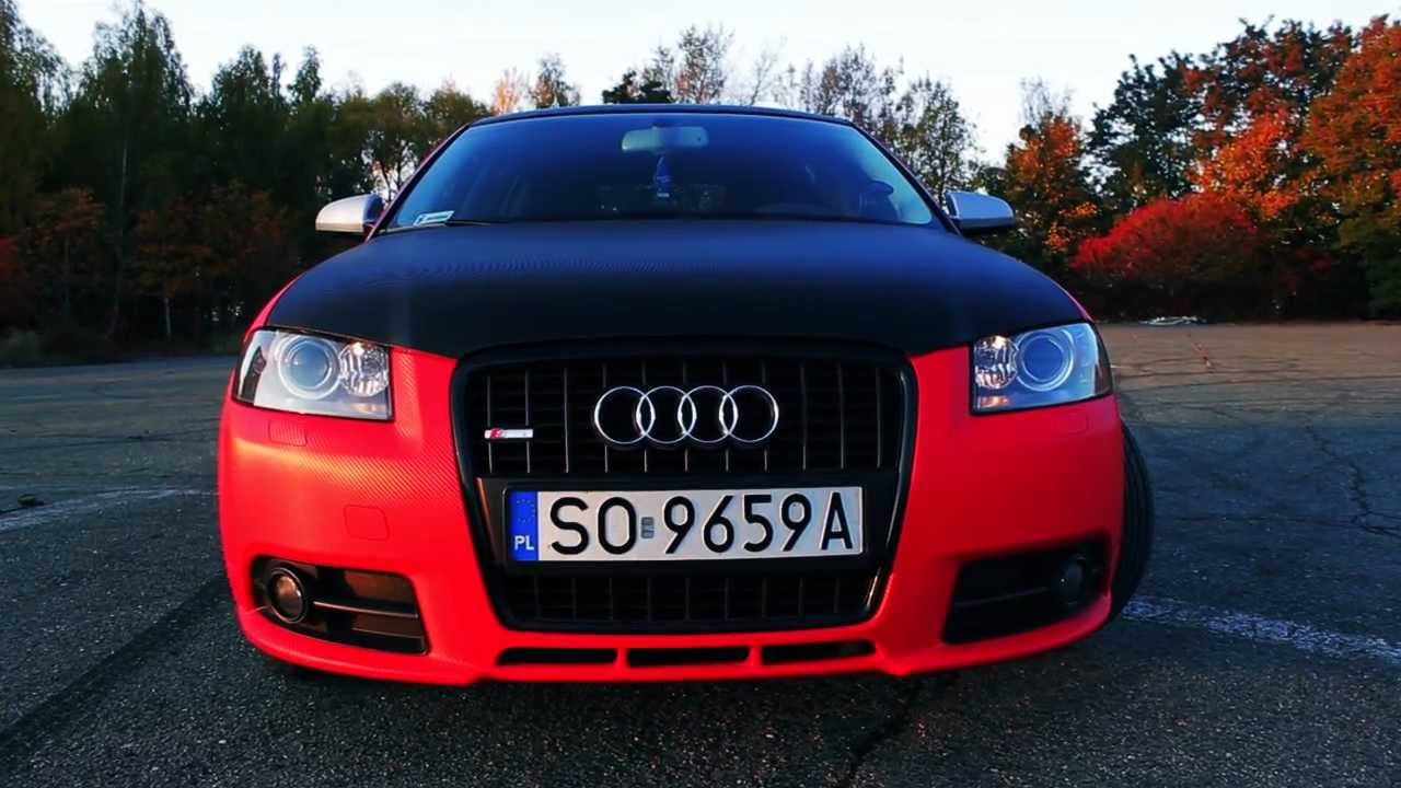 fcd audi a3 s line project red carbon car wraping youtube