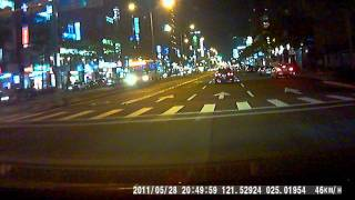 Garmin行車紀錄器夜間影片