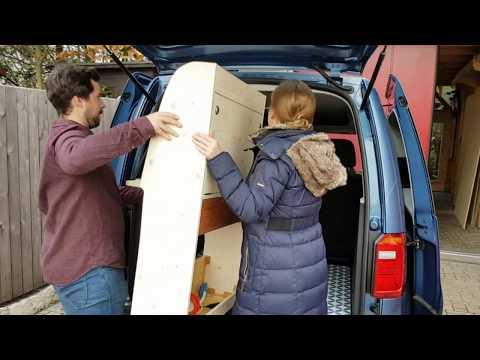 natuerliche-reisemobile.com VW Caddy miniCamper Einbauvideo
