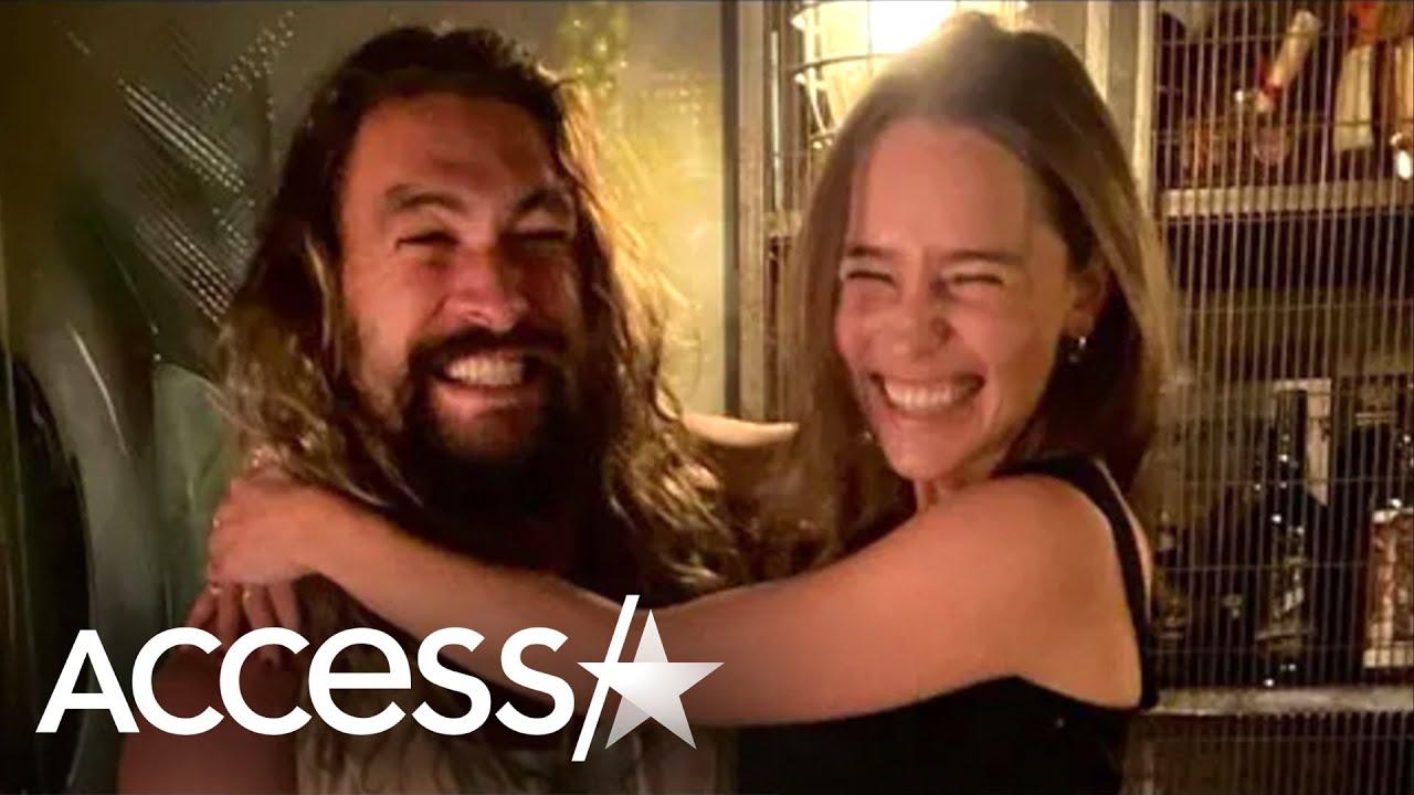 Jason Momoa and Emilia Clarke Get Together for Game of ...