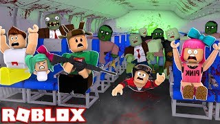 ESCAPE ZOMBIES ON A PLANE IN ROBLOX!