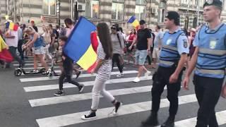 Protest in centrul Bacaului - sambata, 11 august 2018