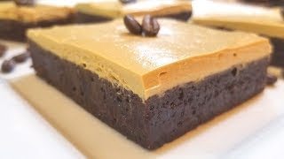 Mocha Brownies with Caffe Latte Frosting