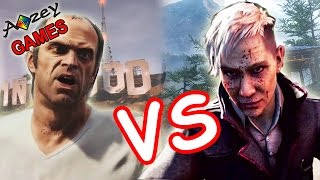 Far Cry 4 vs GTA 5 от 1-го лица || Геймплейный батл