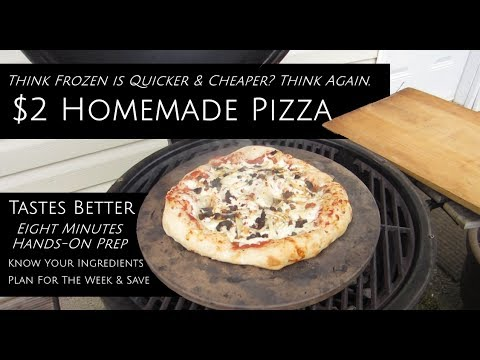 $2-pizza-cheap-&-quick---better-than-frozen-all-from-scratch-hot-kiln-stone-on-kamado-action
