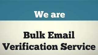 Fast and Accurate Bulk Email Verification Online Service Guarantee