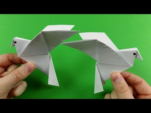How to Make a Paper Dove (Symbol of Peace) - Easy Tutorials