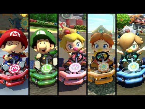Evolution of Baby Characters in Mario Kart (2003-2019)
