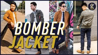 HOW TO WEAR A BOMBER JACKET 7 Ways + Why it Works   Men's Style & Fashion