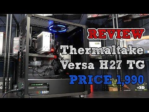 ประกอบคอมใหม่ ง่ายเกิ้นนนน ข้างใสใส่ง่าย Versa H27 TG จาก THERMALTAKE