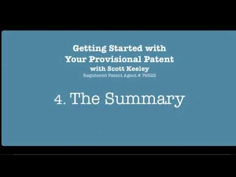 Preparing a Provisional Patent Application