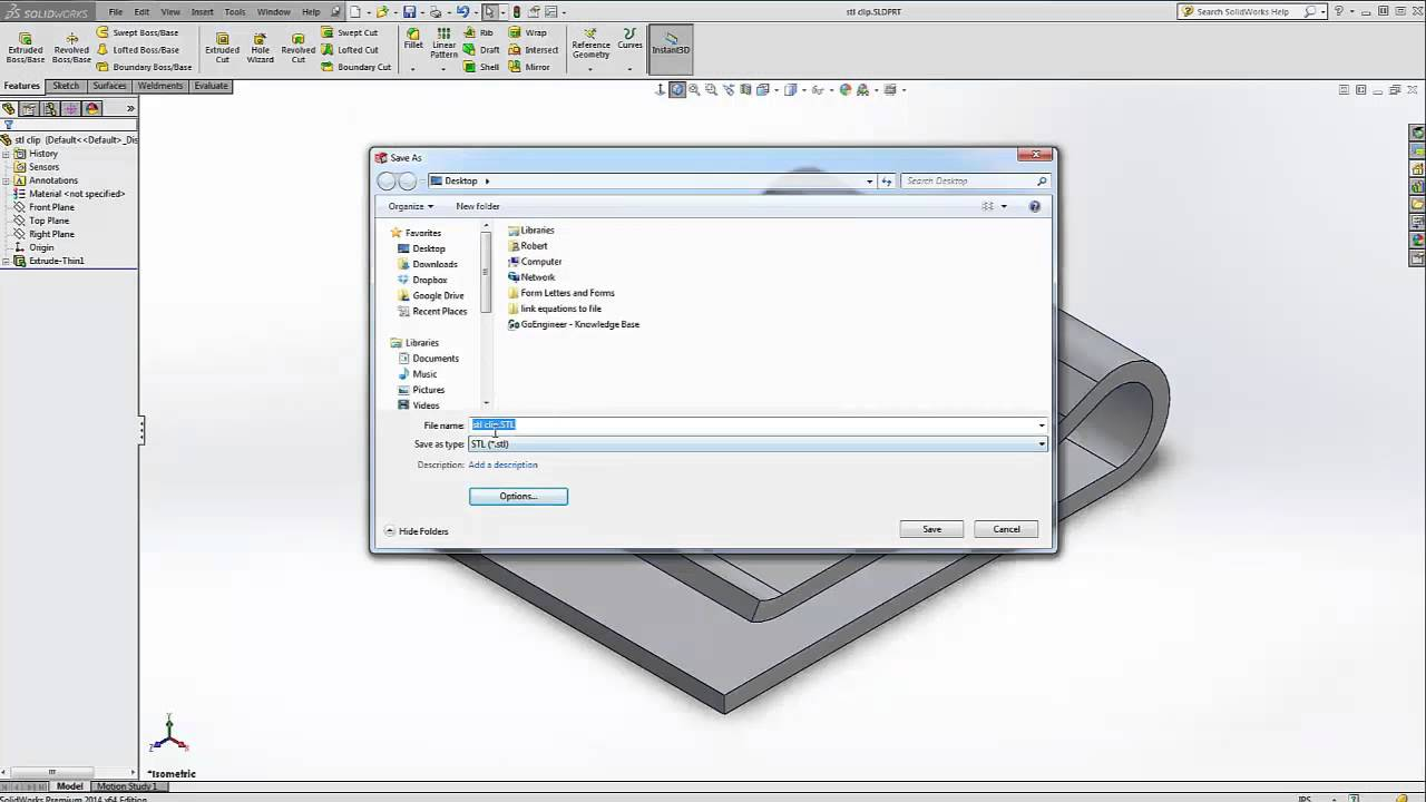 Solidworks save stl files for printing youtube File stl
