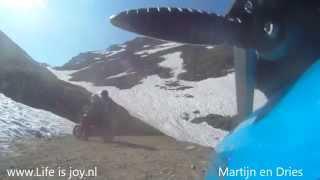 Stella Alpina 2013 Triumph Tiger (2 men - 1 bike) highest mountainroad Alps Col de Sommeiller