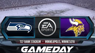 Madden NFL 16 GameDay | NFC Wild Card - Seattle Seahawks vs Minnesota Vikings (1/10/2016)