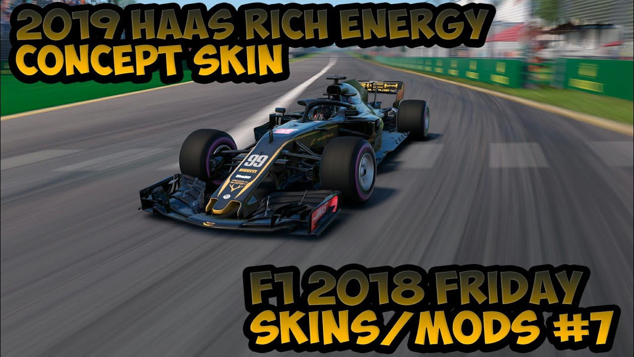 2019 Haas Rich Energy Concept Skin - F1 2018 Friday Skins/Mods #7