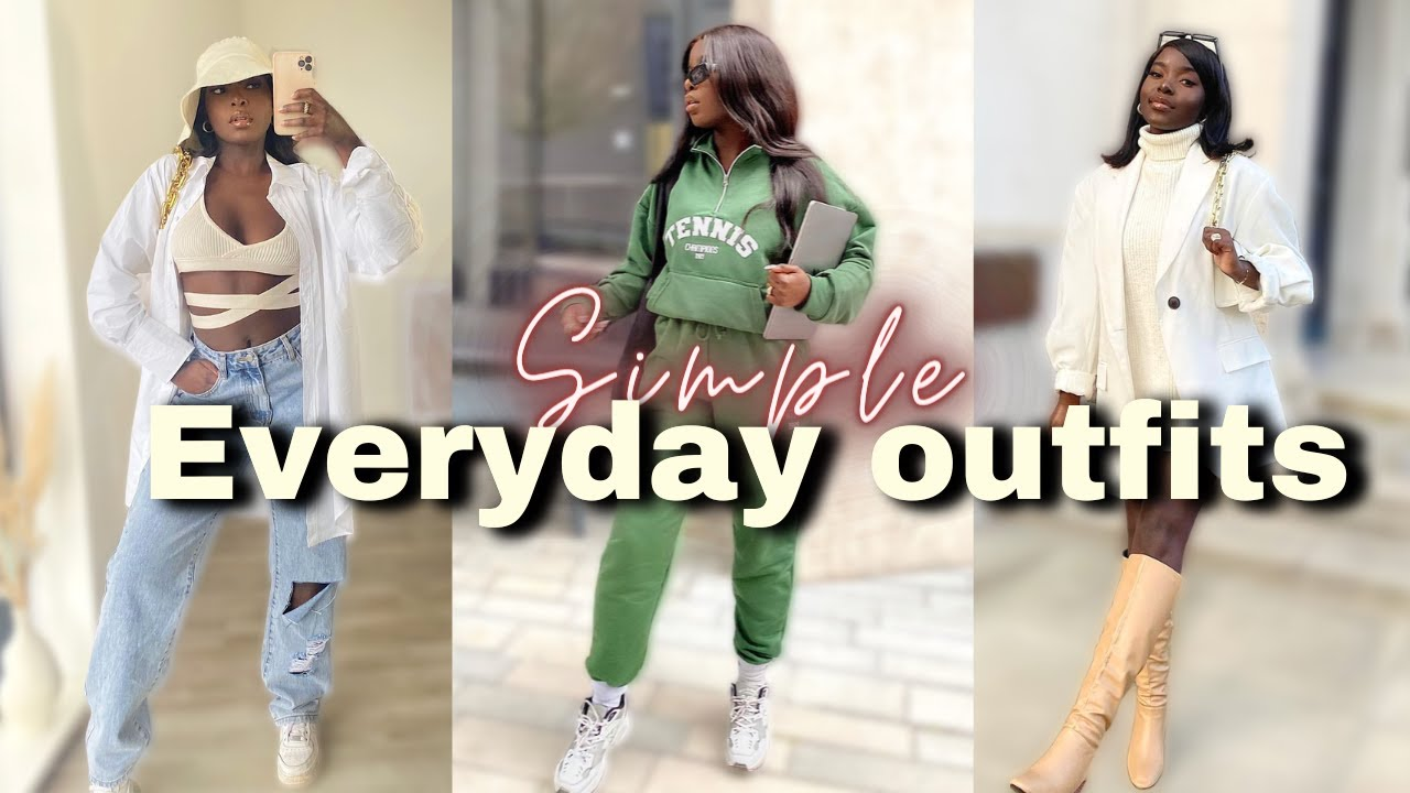 Back to school Outfits 2021 | College/ University Simple Everyday Outfit Ideas | Minimal outfits ?