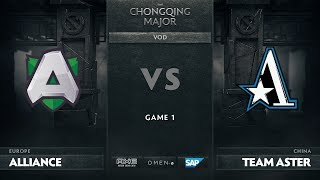 [RU] Alliance vs Team Aster, Game 1, The Chongqing Major Group D