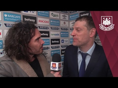 Russell Brand post match interview with Slaven Bilic 😘