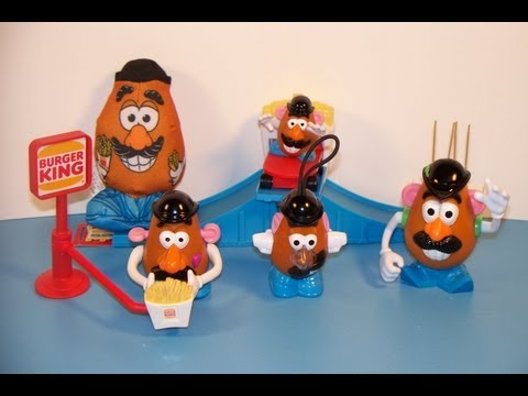 1999 MR. POTATO HEAD SET OF 5 BURGER KING KID'S MEAL TOY'S VIDEO REVIEW