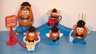 1999 MR. POTATO HEAD SET OF 5 BURGER KING KID