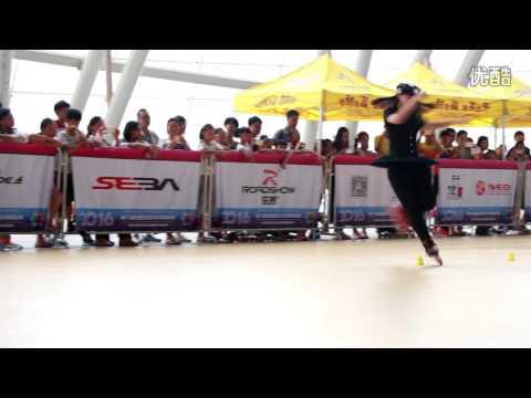 Zhao Yi Ran 3rd (Junior women) - National Freestyle Slalom 2016