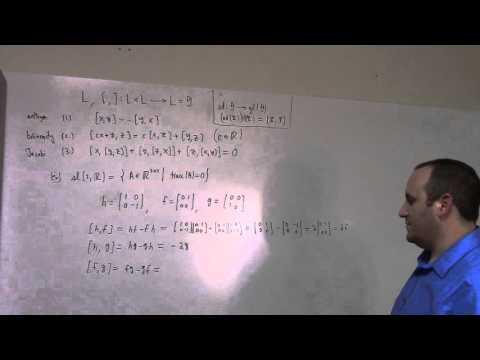 Matrix Lie Groups: April 4, Lie algebra example, 2nd order BCH (part 1)