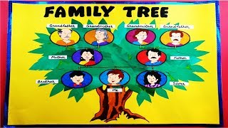 Family tree chart for classroom l Chart ideas for classroom and school