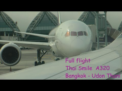 Full Flight on Thai Smile A320 from Bangkok to Udon Thani