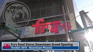 Today, phoenix celebrated the grand opening of a new fry's food store in downtown phoenix. connect with city phoenix:http://phoenix.gov – official cit...