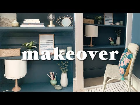 Small Closet to Home Office Room Makeover Transformation & DIYs