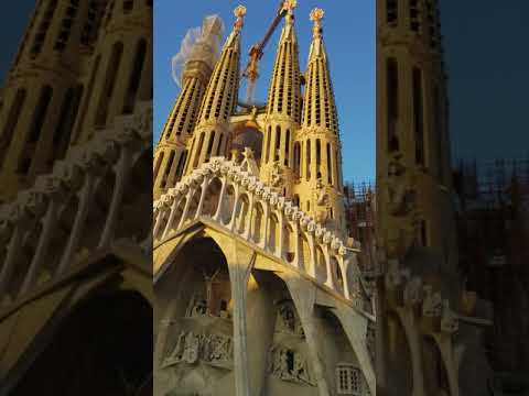 Barcelona, Spain - Architect Gaudi, different view