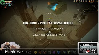 Albion Online Bow + Hunter jacket solo Silver and Chest farming