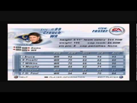 Retro Roster Madden NFL 2003 Player Spotlight Eric Crouch WR Rams
