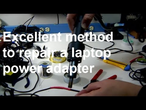 How to fix a laptop power supply adapter