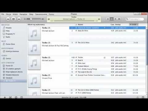 Jak używać iTunes - Podstawy PL Biblioteka, listy utworów