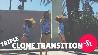 How to do the TRIPLE CLONE TRANSITION on Musical.ly