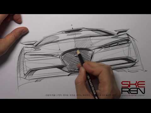 Car Front View Sketch