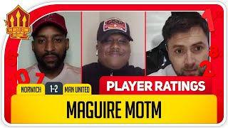 MAGUIRE SCORES 8! Norwich 1-2 Manchester United Player Ratings