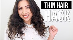 Make thin hair look THICK! (No extensions)