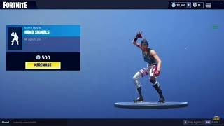 «NOUVEAU» Hand Signals Dance Emote Fortnite Battle Royale (Bass Boosted)