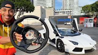Why I Haven't Been Uploading ft Random Girl Tries 2 get in my Lamborghini+Installing New CarbonWheel