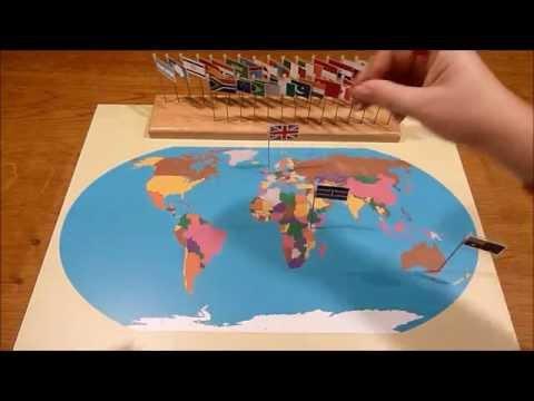 Montessori World Flag Map
