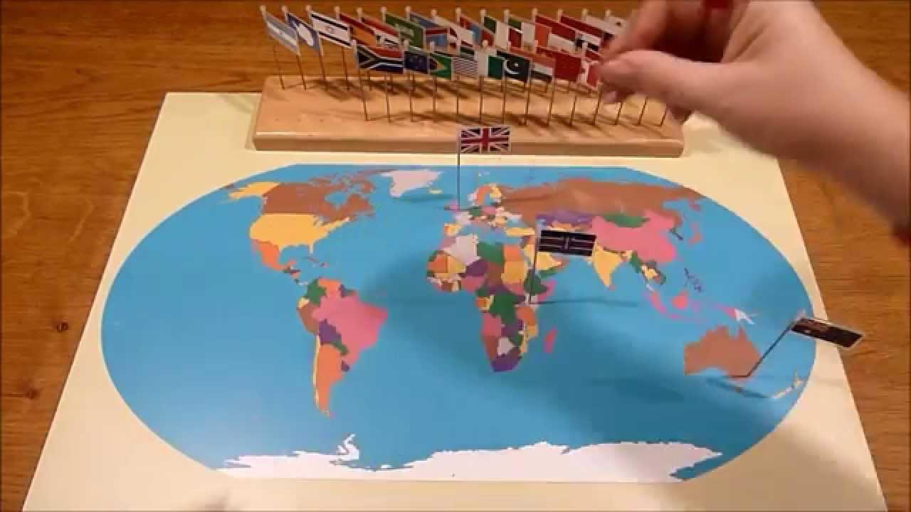 Montessori world flag map youtube gumiabroncs Images