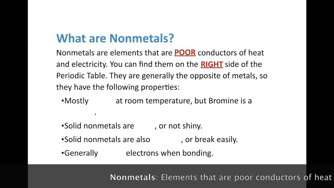 Metals and nonmetals youtube metals and nonmetals gamestrikefo Choice Image