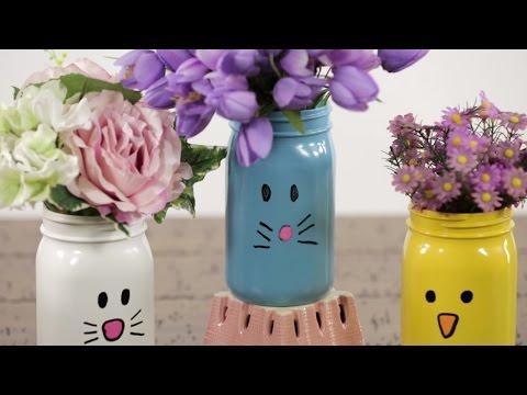 Make Your Own Animal Mason Jars For Cute And Easy Springtime Decor!