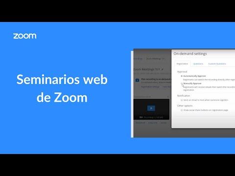 Seminarios web de Zoom