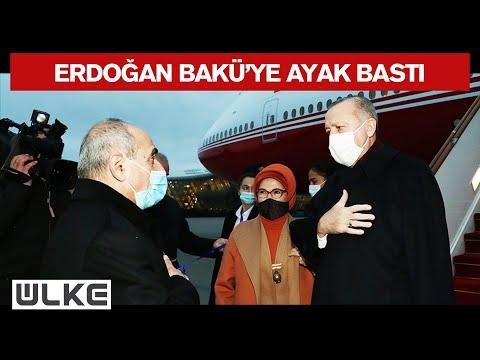 Erdoğan, Azerbaycan'ın Başkenti Bakü'ye Geldi