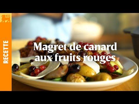 Magret de canard aux fruits rouges